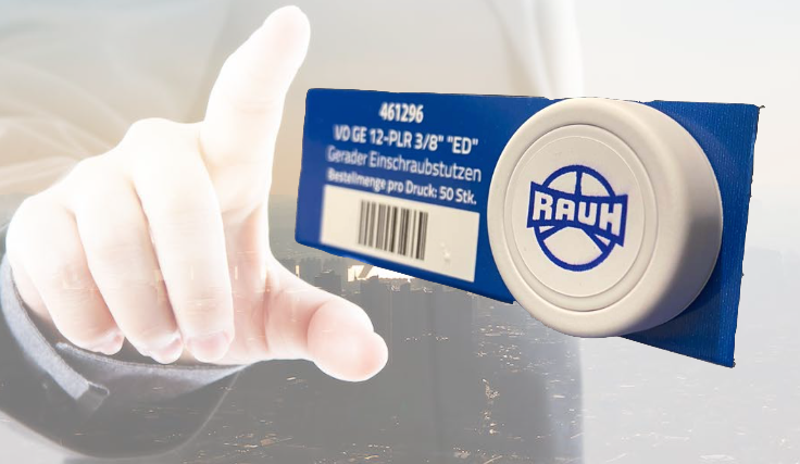 Rauh Button mit Hand